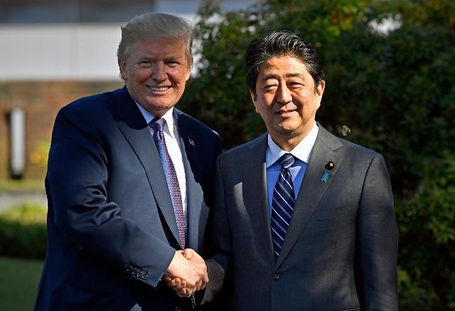 特朗普亚洲之行首站抵达日本