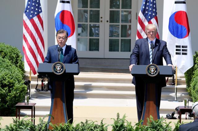 韩总统府奏《轻骑兵》唱《野生花》迎特朗普