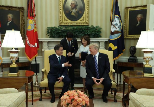 美国总统特朗普今日抵韩 将与文在寅举行首脑会谈