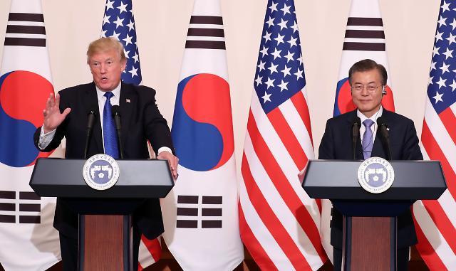 特朗普:力促公正互惠的韩美自由贸易谈判