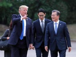 .韩美总统决定继续韩美日合作抗朝挑衅.