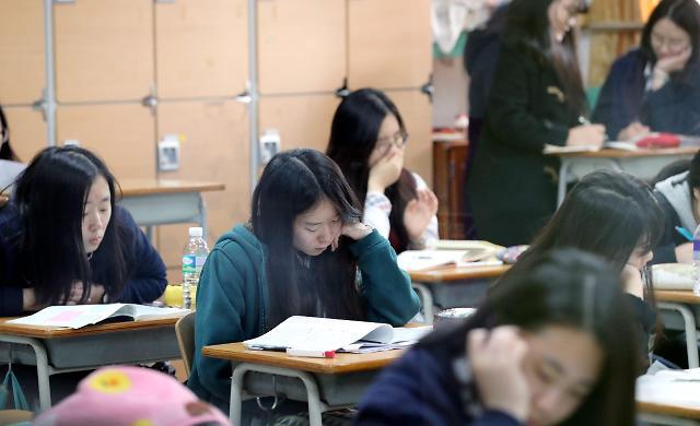 韩国高考将至 今年考生人数1.5万人