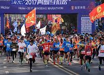중국 칭다오 국제마라톤 개최