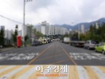 부산시 기장군 정관읍 병산로 '흰색 실선'→'노란 실선(단속 가능)' 교체 작업