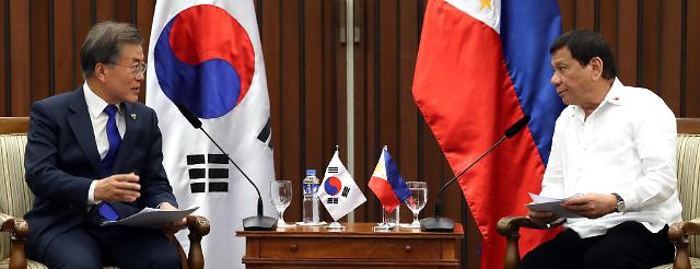 韩菲首脑会晤商定加强国防基建合作