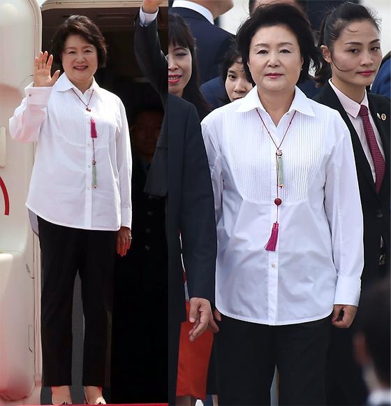 """韩国第一夫人""""时装外交""""获赞 韩式元素无处不在"""