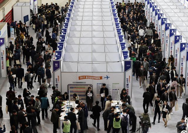 韩10月就业人口同比增27.9万人 失业率3.2%
