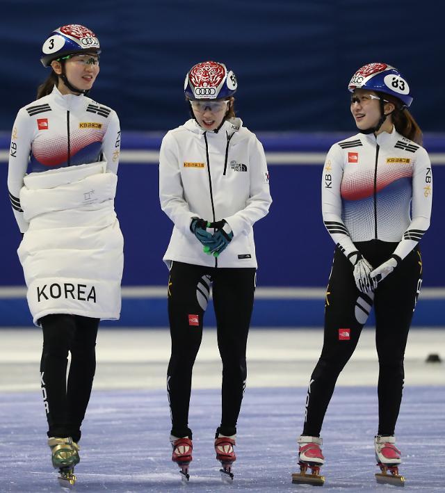 短道速滑国家队进行训练