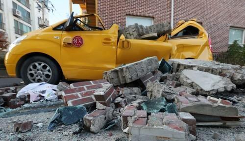 浦项市北部发生3.8级余震