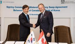 .韩国与加拿大签署不限期不限额换币协议.