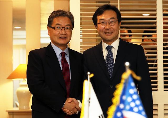 朝核六方会谈韩美团长在济州会晤