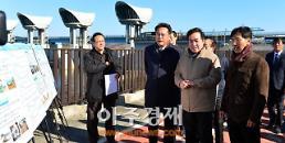 <포토> 안희정 지사, 이낙연 총리와 백제보 점검