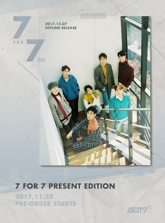 GOT7下月7日发行再版专辑 预告照发布成员帅气十足