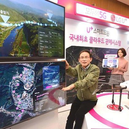 LG유플, '원터치' 자율비행 드론시대 열다