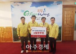 안동시, 포항지진 피해 돕기 1000만원 성금 전달