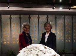 .外长康京和与中国人大外事委主任傅莹会面 就韩中关系发展交流意见.