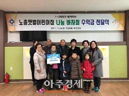 안양시 안양8동 노총샛별어린이집 바자회 수익금 전달