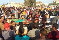 이집트 테러 사망자 어린이27명 등 305명으로 늘어..테러범,IS검은깃발 들고있어