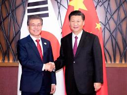 .President Moon to make state visit  to China next week ​.