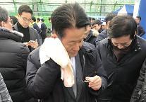 """계란 맞은 박지원""""그 여성분'박 의원 평소 존경했지만 최근 너무한다'며 비자금 운운"""""""