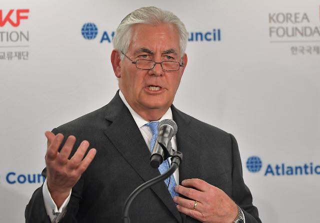 美国务卿:可与朝鲜无条件对话