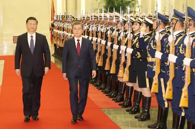 文在寅表示韩中两国是命运共同体