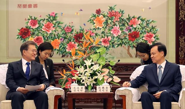 文在寅重庆行收获颇丰 会见重庆市委书记陈敏尔 走访北京现代第五工厂