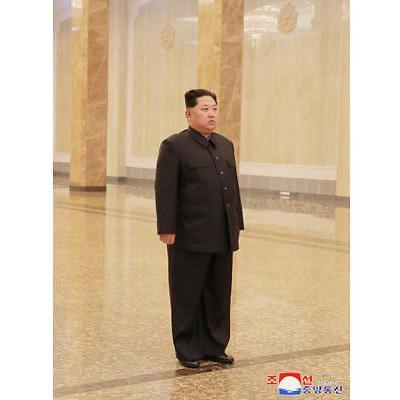 조용한 김정일 6주기…김정은 나홀로 참배