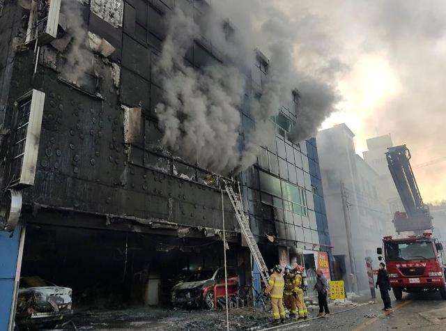 堤川市一建筑发生火灾 造成29人遇难