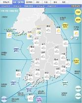 '날씨'전국 구름 많다 밤부터 서울ㆍ경기 비..미세먼지'나쁨'~'매우나쁨'..낮최고13도 포근