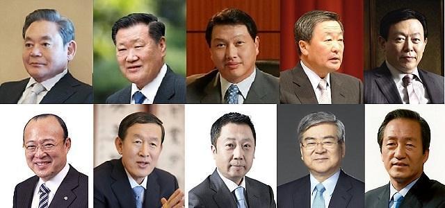 """韩十大企业掌门人半数子承父业 业界分析称""""富不过四代"""""""