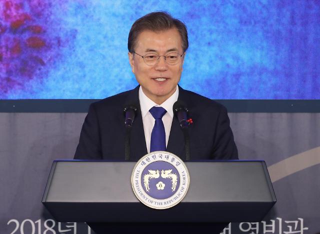 文在寅积极评价朝方愿派团参奥 政府提议9日举行韩朝高层会谈