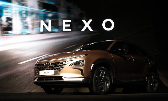 现代全新燃料电池车NEXO亮相2018CES展