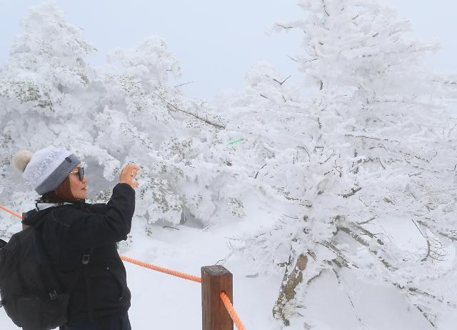 汉拿山梦幻雪景好似仙境