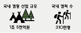 1년에 3번은 캠핑…국내 캠핑족 310만명