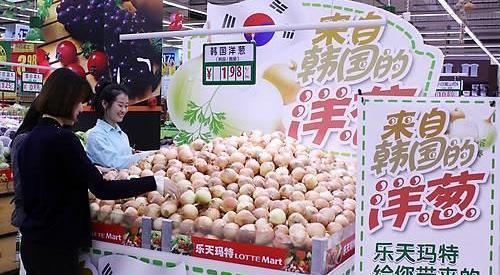 受萨德影响去年京畿道农产品对华出口同比减少15%