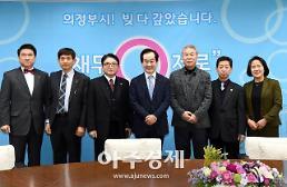 〔포토〕 장로연합회 임원진 만난 안병용 의정부시장
