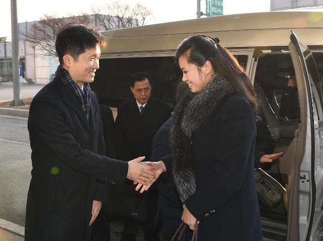 현송월 삼지연관현악단 단장, 강릉행 KTX 탑승