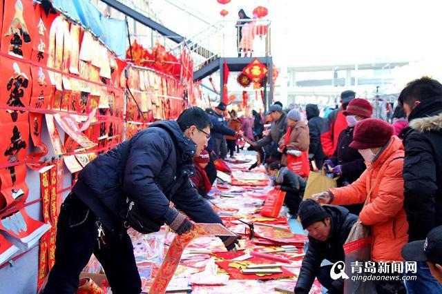 [영상중국] 춘제 앞둔 중국 칭다오 시장 풍경