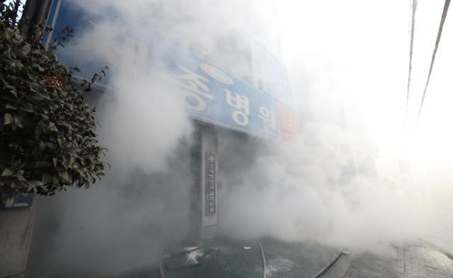 韩国密阳市世宗医院发生火灾 已有13人遇难
