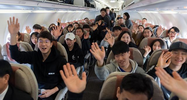韩滑雪代表团抵朝