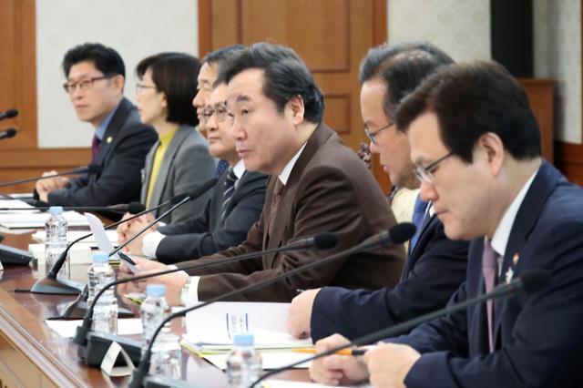 国务总理李洛渊主持召开国政事务检查会议