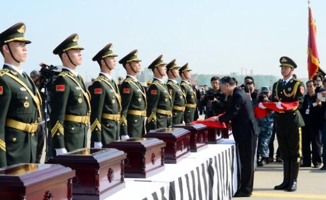 韩国清明节前将移交20具在韩中国志愿军遗骸