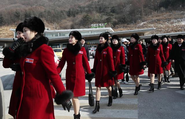 韩政府设宴欢迎朝鲜冬奥拉拉队一行