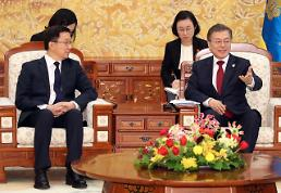 .Moon urges Chinas active role in pushing for inter-Korean rapprochement.