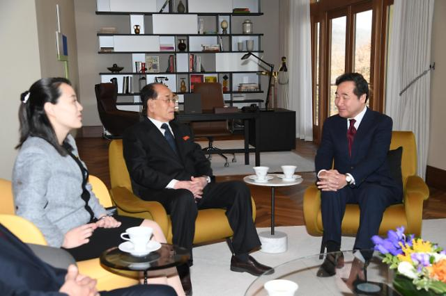 国务总理李洛渊接见金永南金与正一行