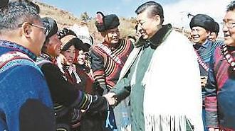 소수민족 전통복장 입고 중국 시진핑 춘제 앞둔 민생행보