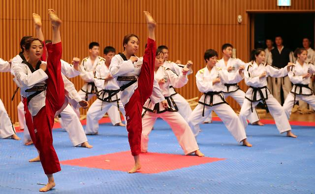 韩朝跆拳道示范团今在首尔第三次联演