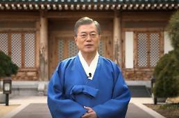 .文在寅拜年:冬奥春节同庆 韩朝健儿团圆.