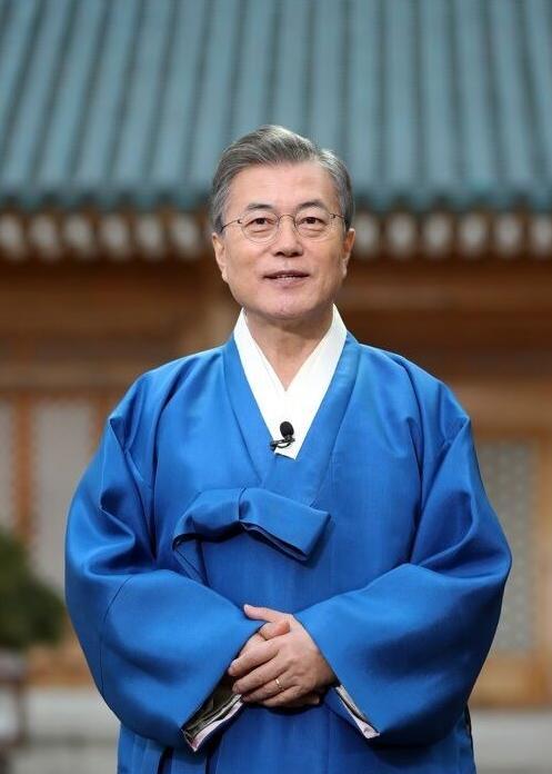 韩国总统文在寅在除夕向中国人民拜年:祝吉祥如意 身体健康
